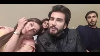 Imran abbas Naqvi and Ayeza Khan at KOI CHAND RAKH MERI SHAM PER set