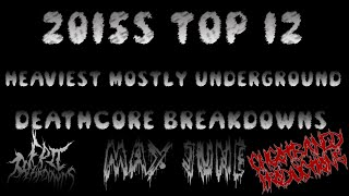 2015s Top 12 Mostly Underground Deathcore Breakdowns (May June) HD