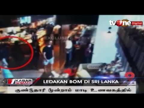 CCTV Detik-detik Terjadinya Ledakan Bom di Sri Lanka