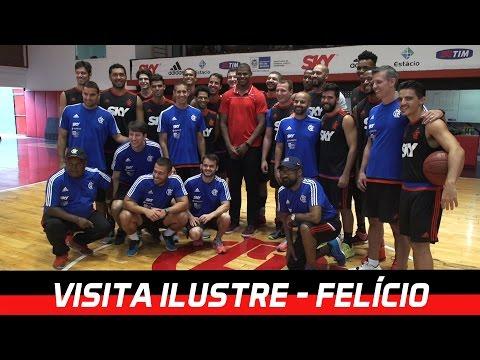 Cristiano Felício, do Chicago Bulls, visita FlaBasquete
