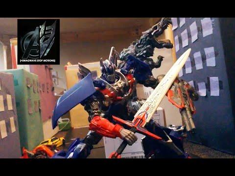Transformers Age of Extinction Stop MotionThe Final Battle Bumblebee vs Stinger