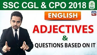Adjective & Questions Based on It | English | SSC CGL | CPO 2018 | 5:00 pm