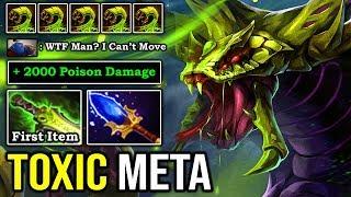 TOXIC META IS BACK First Item Shot Gun + Scepter Venomancer 2000 DMG Poison 100% Deleted ALL DotA 2