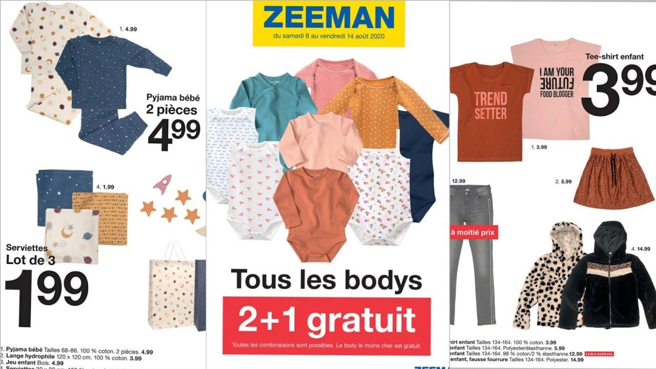 Download Zeeman catalogue Du 08 au 14 aout 2020 soldes -75%   France / Belgique promos nouveauté