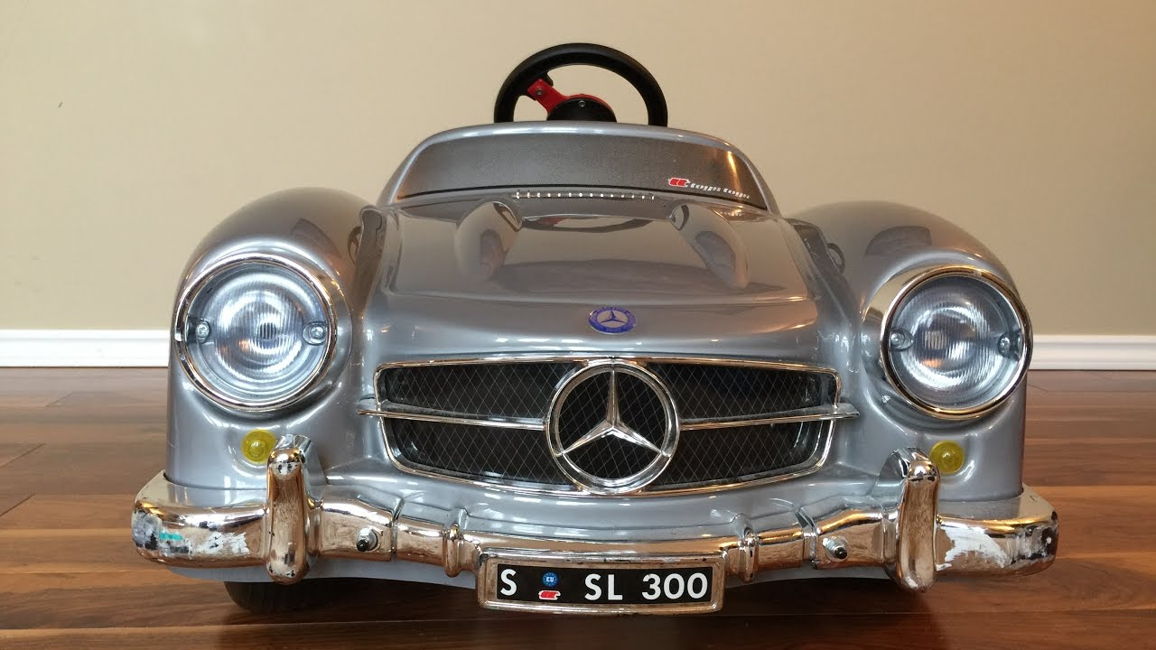 mercedes benz 300 sl vintage pedal car for kids