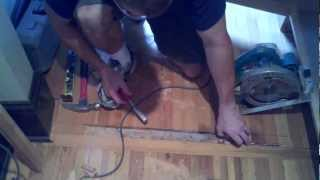 How To Remove And Replace Damaged Wood Flooring Planks In Phoenix, Mesa, Arizona