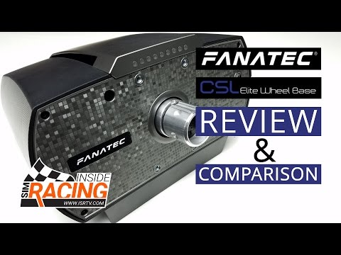 Fanatec CSL Elite Wheel Base Review + Comparison to Thrustmaster TX and Fanatec CSW V2