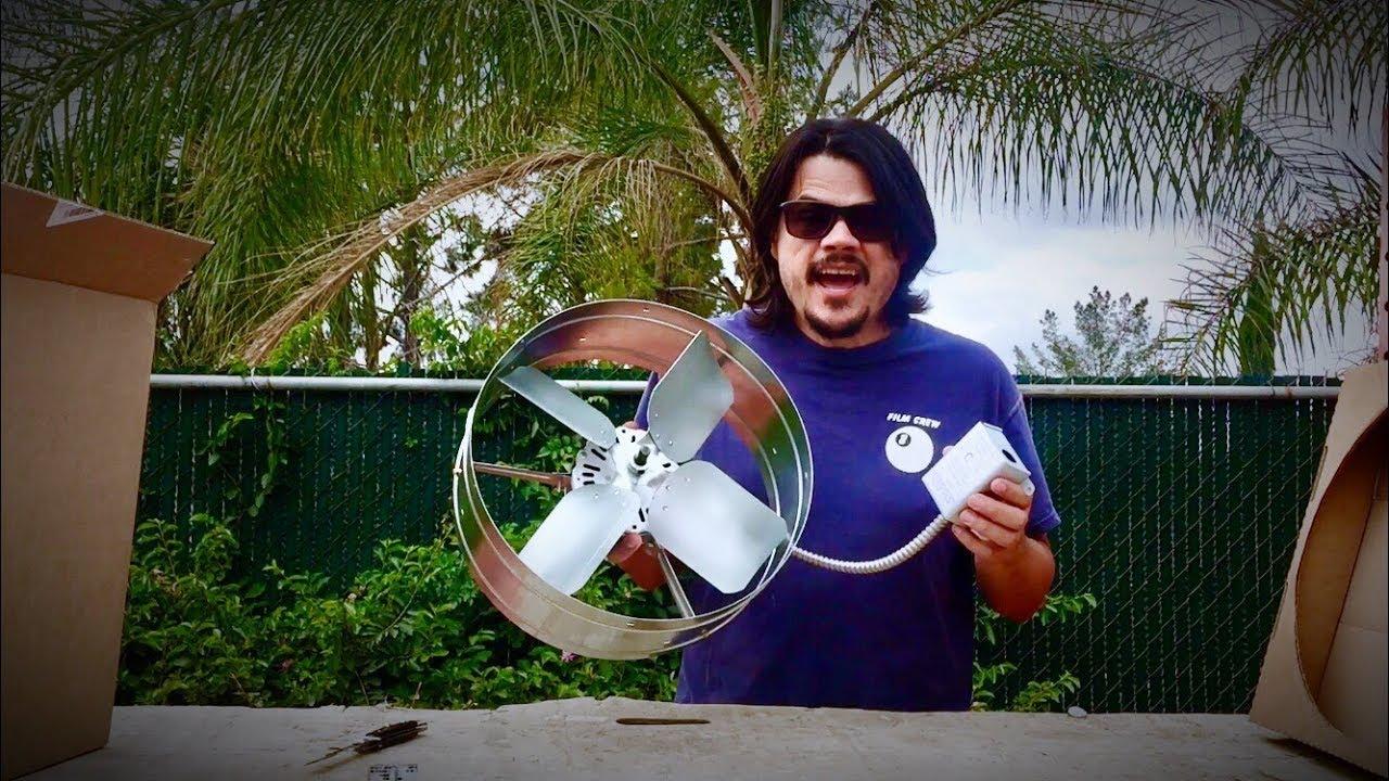cool attic exhaust ventilator fan install or whole house fan [ 1280 x 720 Pixel ]