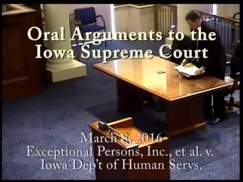 14-0569 Exceptional Persons, Inc., et al. v. Iowa Dep't of Human Servs., March 8, 2016