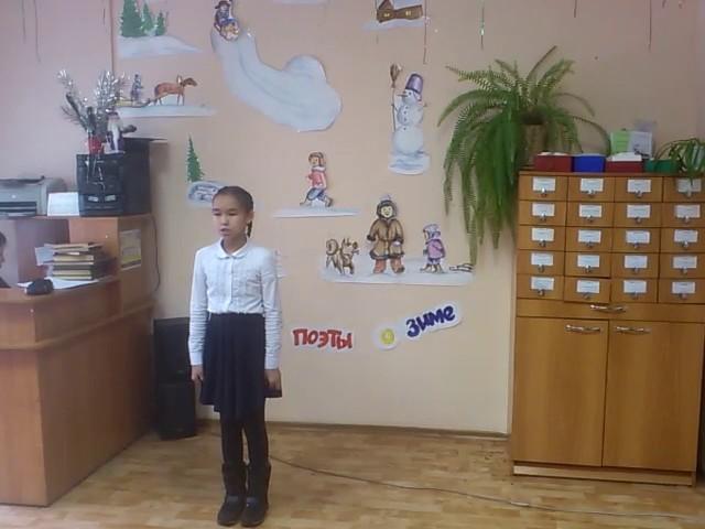 Изображение предпросмотра прочтения – СаянаКуулар читает произведение «Зимний вечер» А.С.Пушкина
