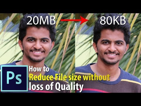 Reduce File Size Without Loss Of Quality In Photoshop | Photoshop Tutorial | Photoshop Vibes