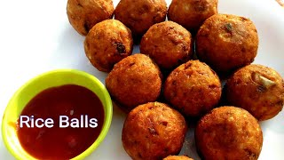 Rice Balls Recipe ll How to make Rice Balls from leftover rice ll Snacks Recipe ll