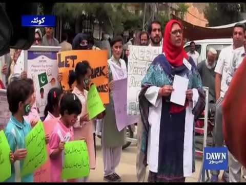 Pak-Turk School protest in Quetta