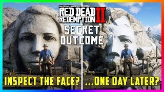 If You Do This At The Giant Face On The Cliff Something SPOOKY Will Happen In Red Dead Redemption 2!