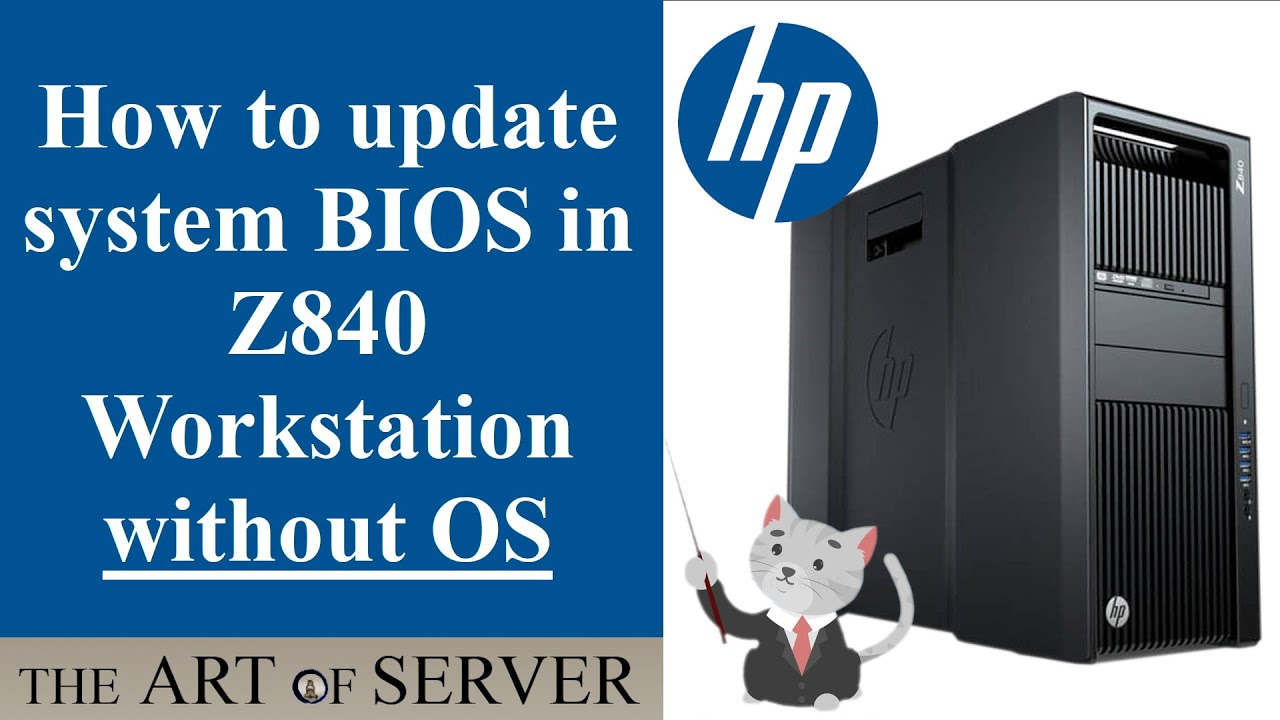 HP Z840 workstation | How to update BIOS without OS
