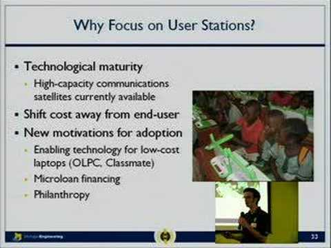 Satellite based Internet for the developing world