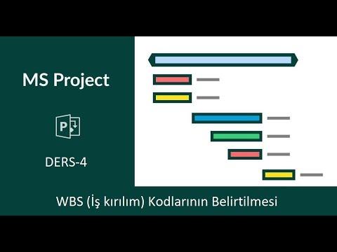 Ms Project - 4 - WBS (İş kırılım kodlarının belirtilmesi)