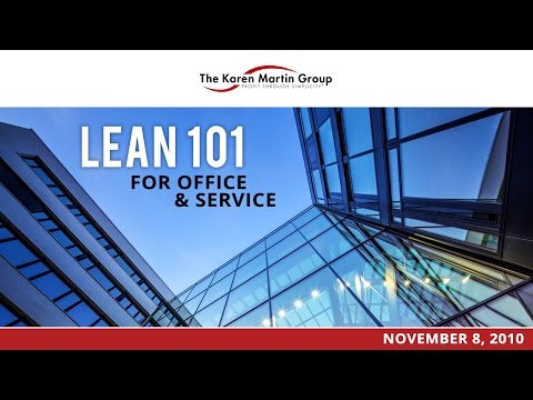Lean 101 for Office and Service Environments