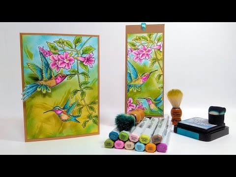 Fluttering Hummingbirds Card & Coloring Tutorial!
