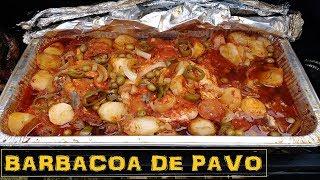 COMO PREPARAR UN PAVO EN BARBACOA COCINA FACIL( How to cook turkey barbecue  Smoked Turkey )