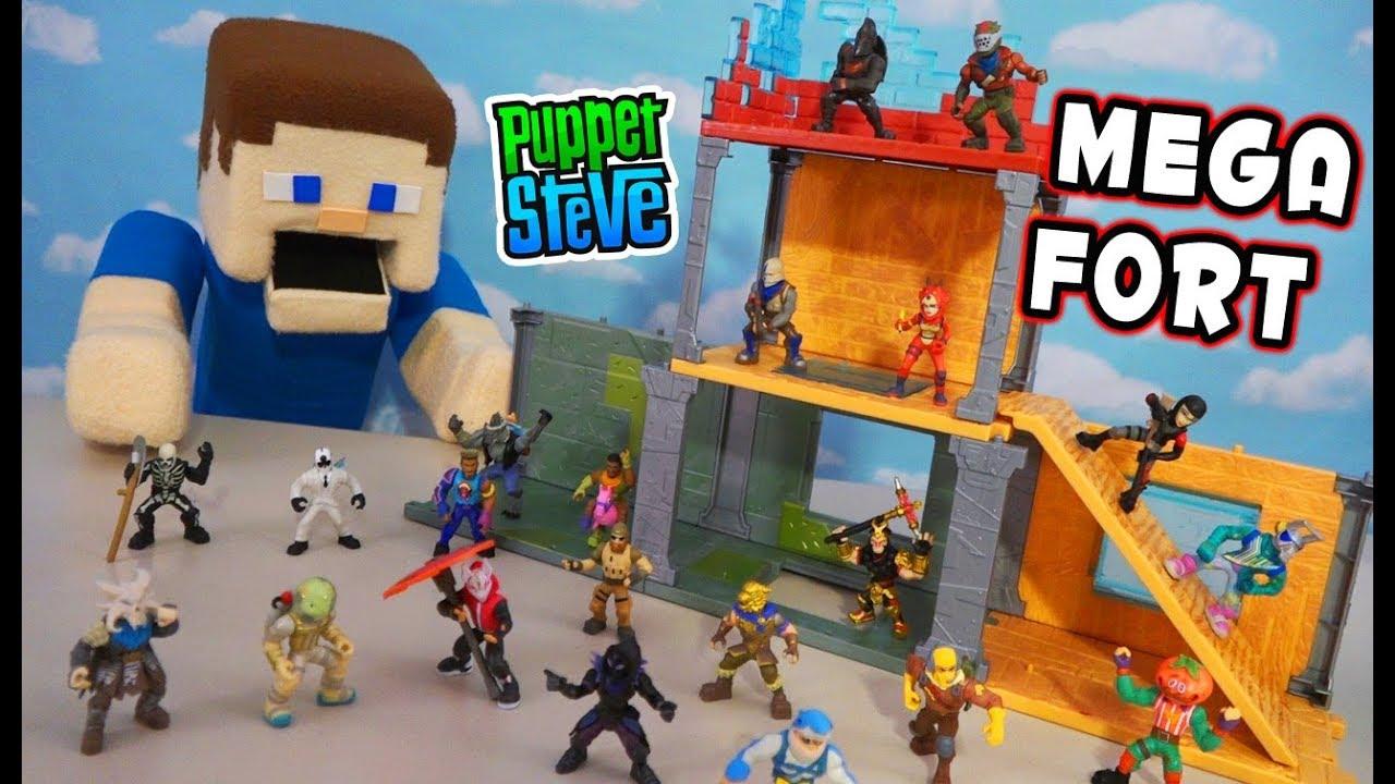 Fortnite The Mega Fort Ultimate Playset Unboxing Moose Toys Battle Royale Collection