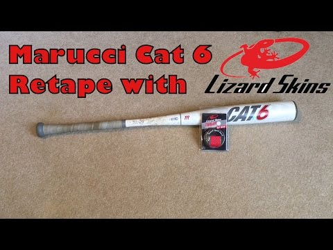 Marucci Cat 6 Retape with Lizard Skin