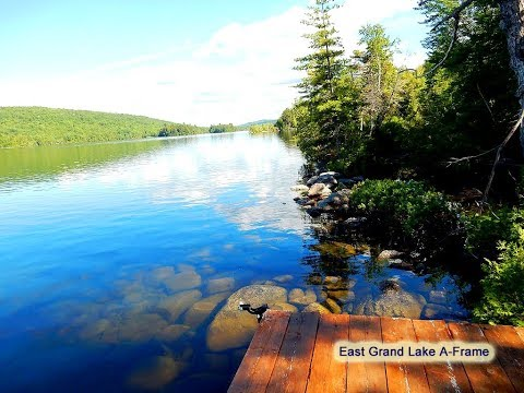 Maine Real Estate | East Grand Lake A Frame Cottage | MOOERS #8462