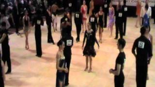 BU Ballroom Dance Competition 2012 - Silver ChaCha Rumba - first round