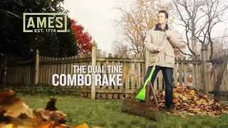 Ames Dual Tine Combo Leaf Rake