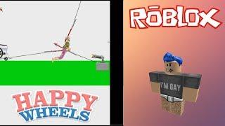 ROBLOX & HAPPY WHEELS!!! 2 JOGOS 1 VIDEO!!!