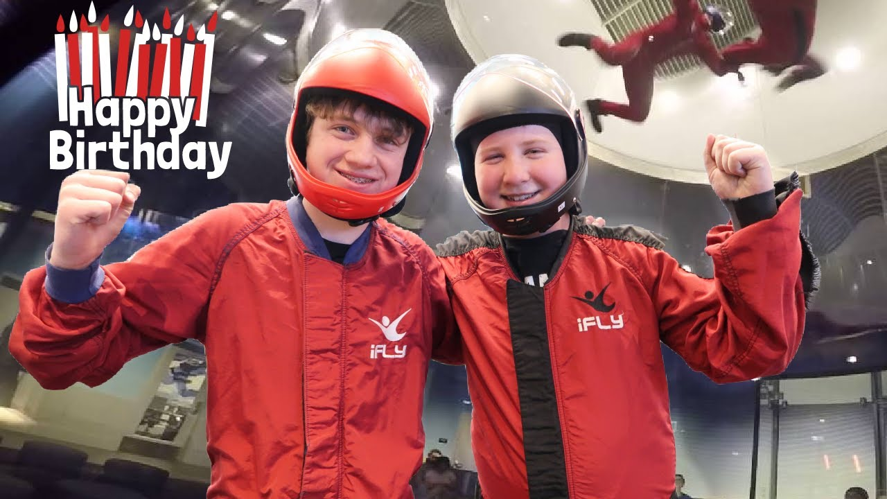 Landon's 13th Birthday Special!   I Can Fly!   Skydiving at ifly!