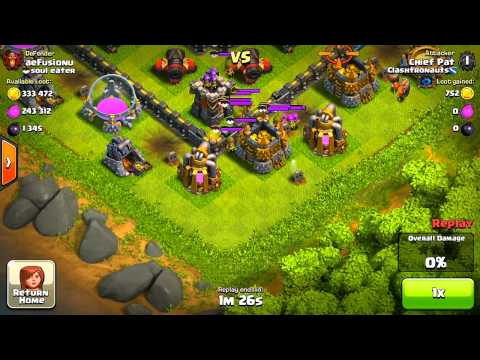 Clash Of Clans - Level 40 Hero Test: Attacking Maxed Bases!