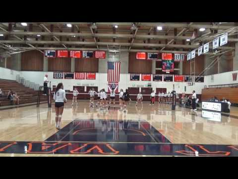 2016 West Valley College Volleyball vs Cabrillo College - Set 1