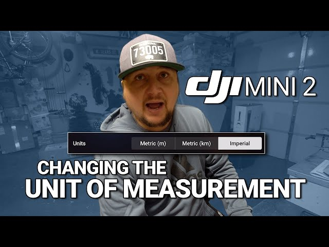 DJI Mini 2 / How to Change the UNIT of MEASUREMENT! (Tutorial)