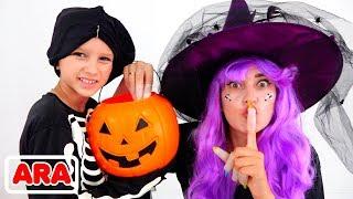 فلاد ونيكيتا يلعبان هالوين خدعة أم حقيقة