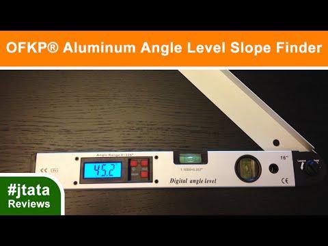 Aluminum Angle Level Slope Finder Vertical + Horizontal from OFKP®