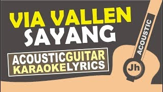 Video Via Vallen - Sayang (Karaoke Acoustic) With lirik download MP3, 3GP, MP4, WEBM, AVI, FLV Januari 2018