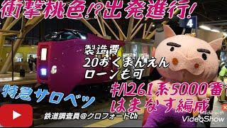 衝撃桃色!出発進行!キハ261系5000番台特急サロベツはまなす編成 (2020.11~12撮影)