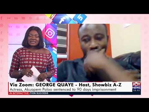 Actress, Akuapem Poloo sentenced to 90 days imprisonment - JoyNews Interactive (16-4-21)