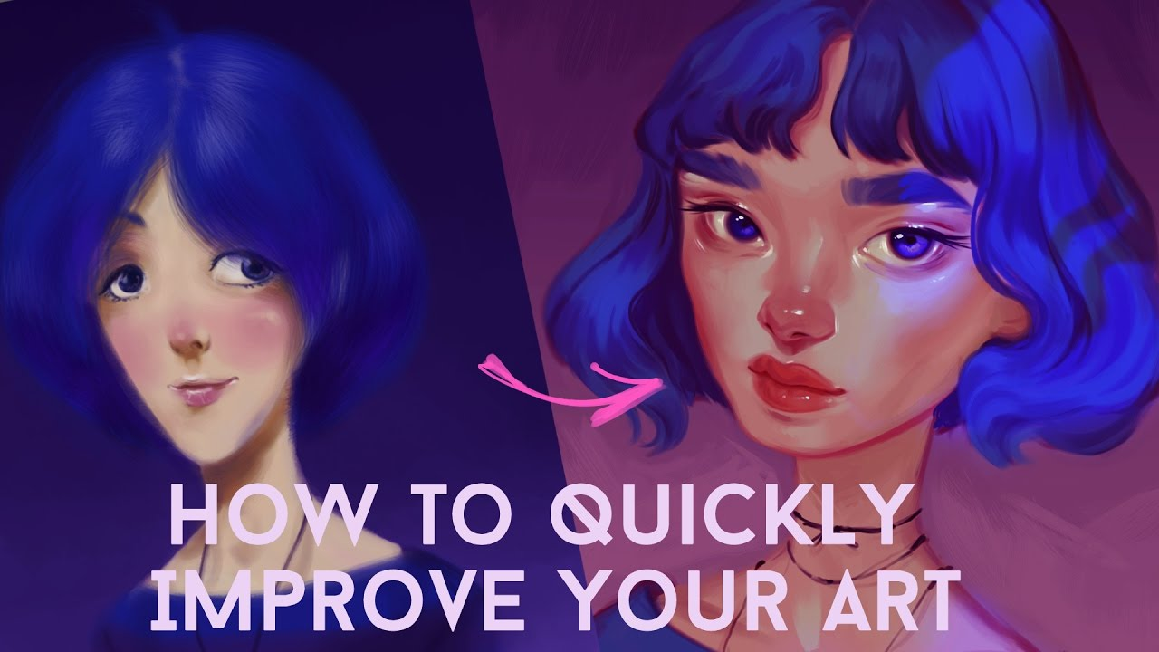 how to quickly improve your art youtube
