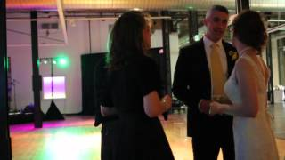 REAL WEDDING: Watch The Fever set up & perform - Bride & Groom join on stage!