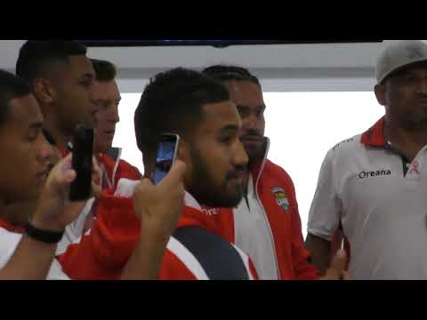 MATE MAA TONGA RUGBY LEAGUE WORLD CUP 31 OCT 2017 AUCKLAND AIR PORT