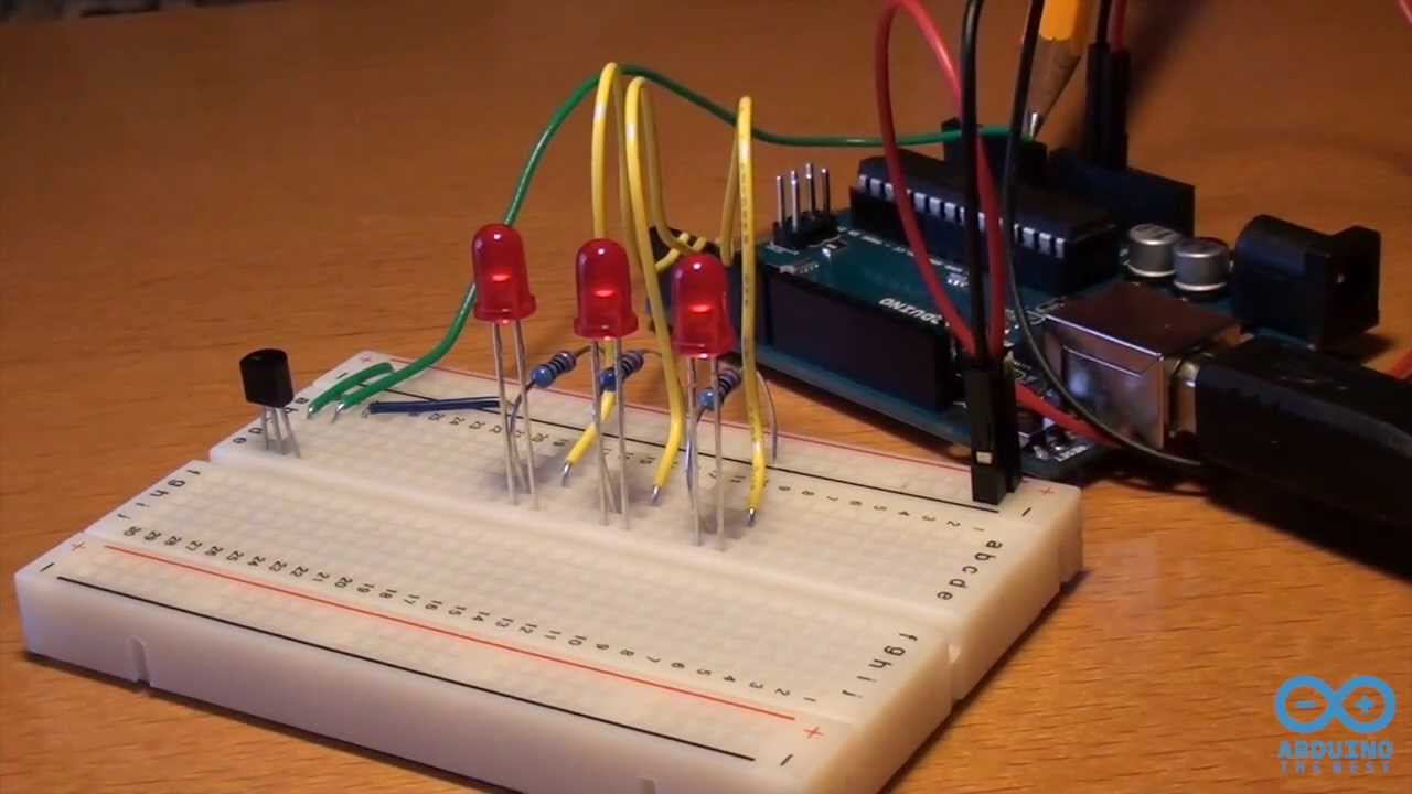 Sensore temperatura e led progetto arduino the