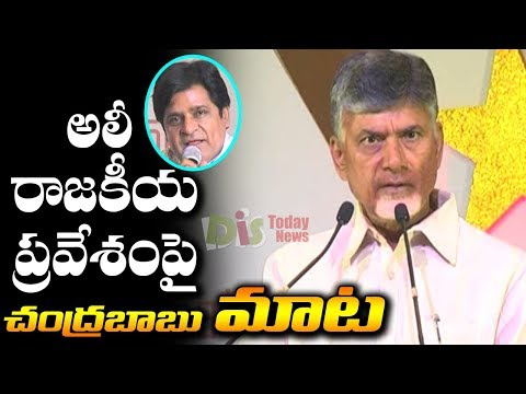 CM Chandrababu Naidu About Comedian Ali - Distodaynews