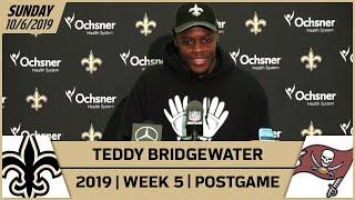 Teddy Bridgewater Postgame Reactions After Saints-Buccaneers Week 5 | 2019 NFL | New Orleans Saints