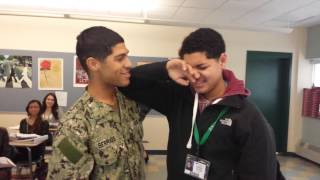 Repeat youtube video Military brother surprises little brother at schoo
