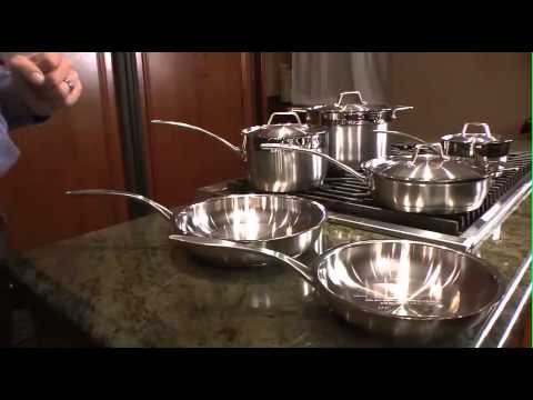 10pc professional cookware set earthchef surgical stainless by berghoff 2213766a 90 youtube. Black Bedroom Furniture Sets. Home Design Ideas