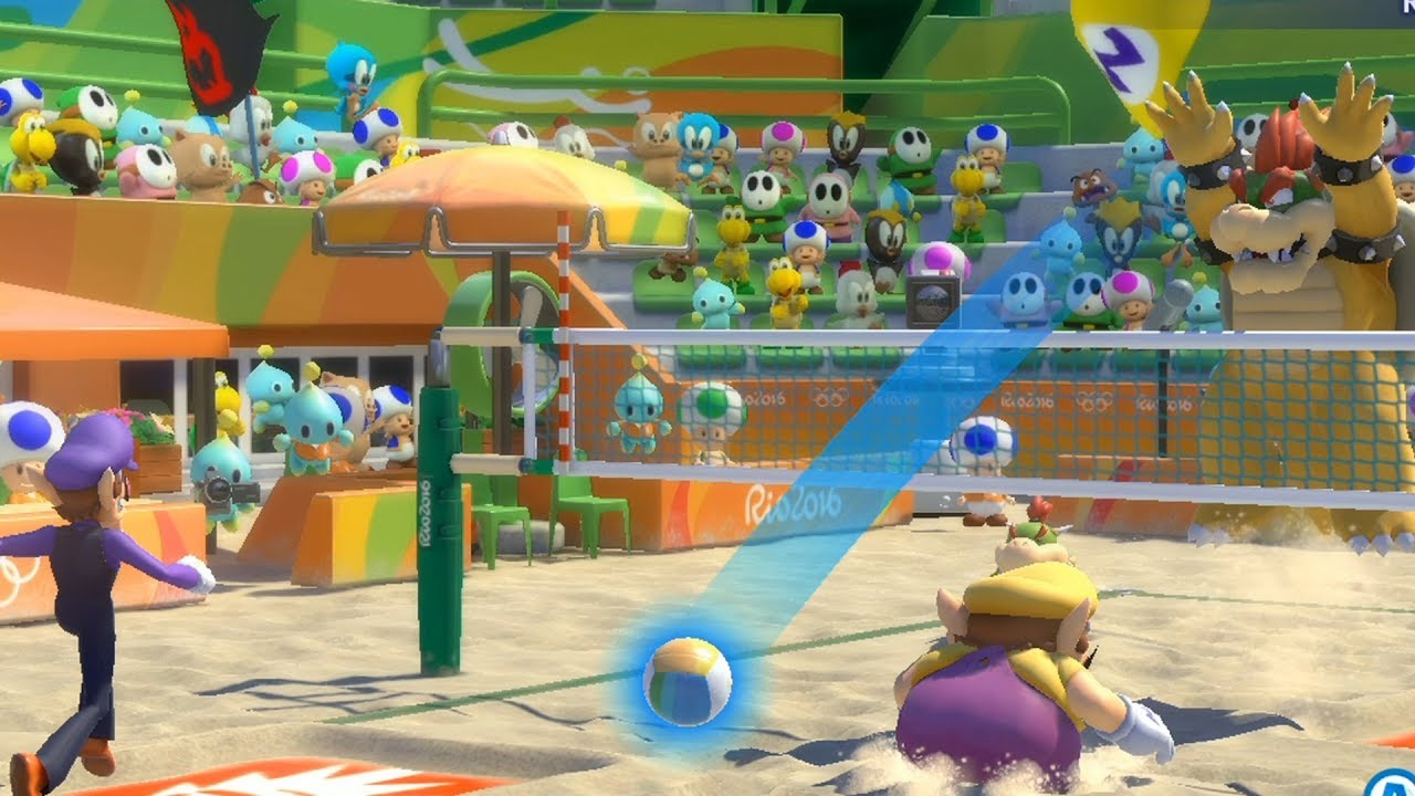 Mario and Sonic at The Rio 2016 Olympic Games Difficulty  Beach Volleyball Bowser vs Wario