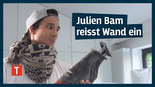 Azubi Julien Bam bricht Wand durch I mit Gipser Felix