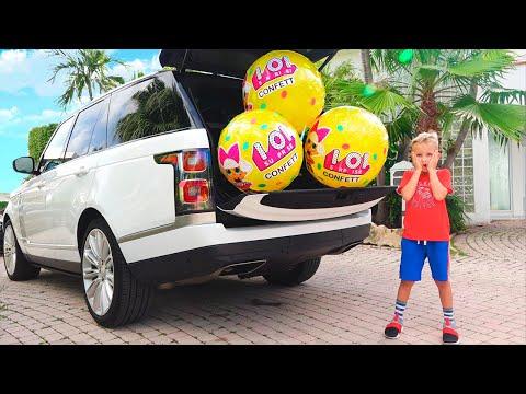 Vlad and Nikita Whole Car Surprise Balls